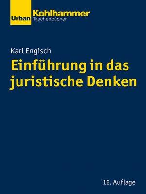 cover image of Einführung in das juristische Denken