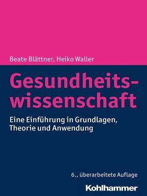cover image of Gesundheitswissenschaft