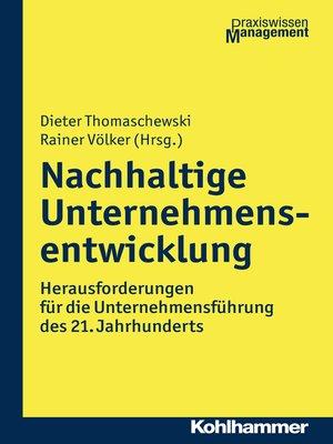 cover image of Nachhaltige Unternehmensentwicklung