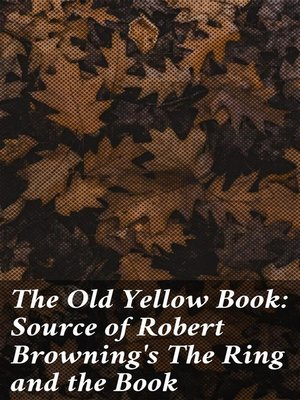 cover image of The Old Yellow Book
