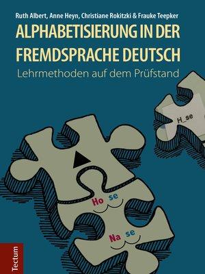 cover image of Alphabetisierung in der Fremdsprache Deutsch