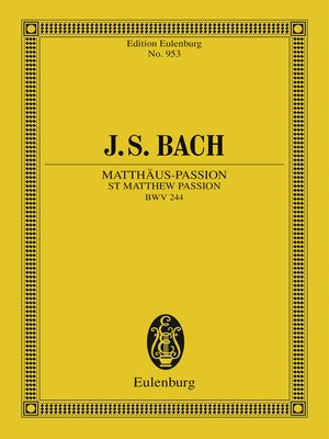 cover image of St Matthew Passion