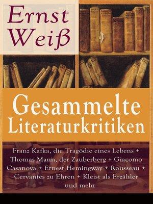 cover image of Gesammelte Literaturkritiken
