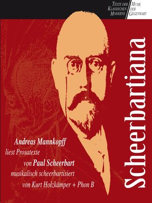 cover image of Scheerbartiana