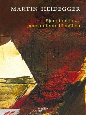 cover image of Ejercitación en el pensamiento filosófico