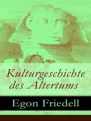 cover image of Kulturgeschichte des Altertums