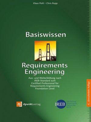cover image of Basiswissen Requirements Engineering