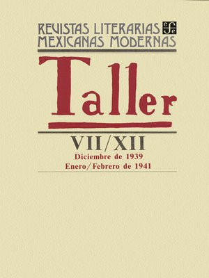 cover image of Taller VII, diciembre de 1939-XII, enero-febrero de 1941