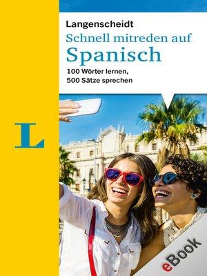 cover image of Schnell mitreden auf Spanisch