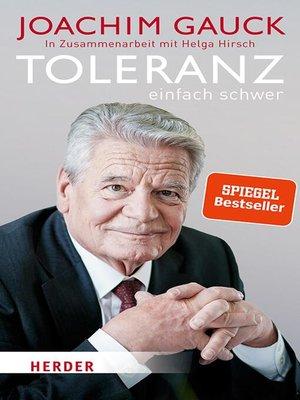 cover image of Toleranz
