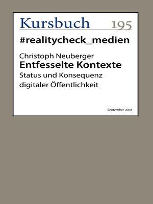 cover image of Entfesselte Kontexte