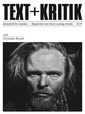 cover image of TEXT+KRITIK 216--Christian Kracht
