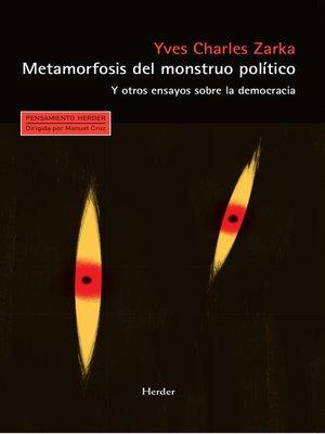 cover image of Metamorfosis del monstruo político