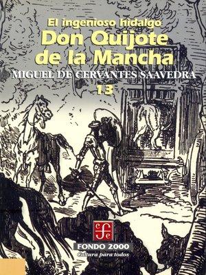 cover image of El ingenioso hidalgo don Quijote de la Mancha, 13