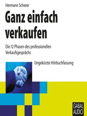 cover image of Ganz einfach verkaufen