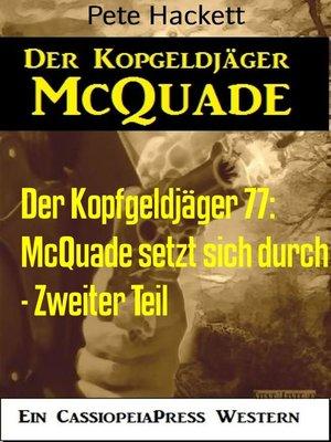 cover image of Der Kopfgeldjäger 77