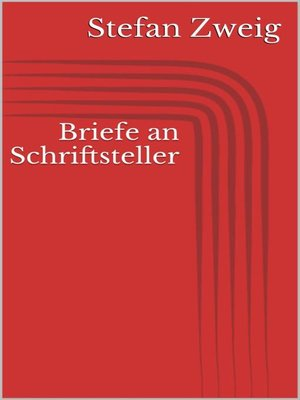cover image of Briefe an Schriftsteller