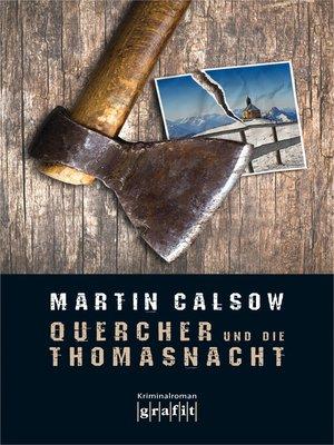 cover image of Quercher und die Thomasnacht