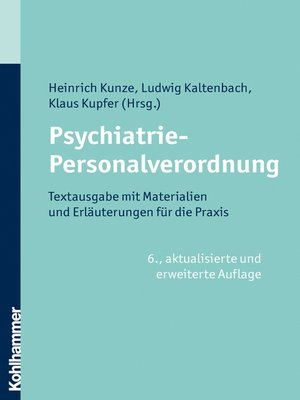 cover image of Psychiatrie-Personalverordnung