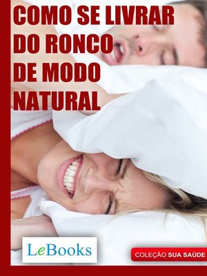 cover image of Como se livrar do ronco de modo natural