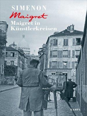 cover image of Maigret in Künstlerkreisen