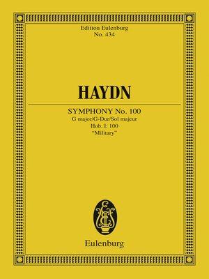 "cover image of Symphony No. 100 G major, ""Military"""
