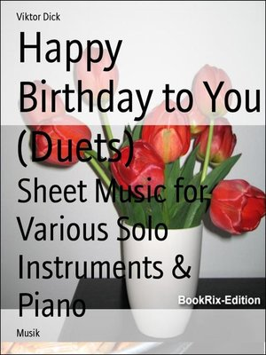 cover image of Happy Birthday to You (Duets)