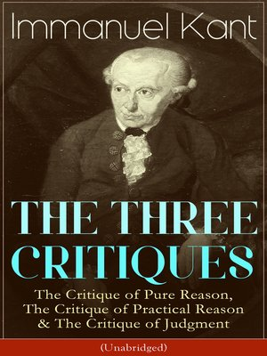 cover image of THE THREE CRITIQUES