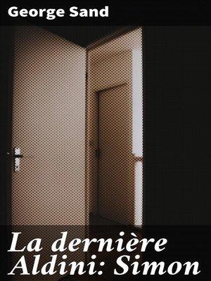 cover image of La dernière Aldini