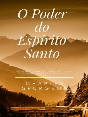 cover image of O Poder do Espírito Santo