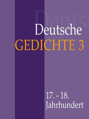 cover image of Deutsche Gedichte 3