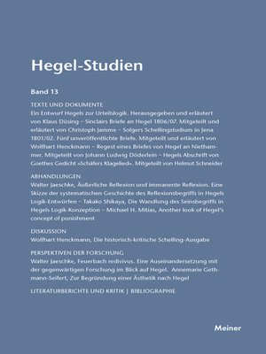 cover image of Hegel-Studien / Hegel-Studien Band 13