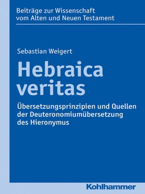 cover image of Hebraica veritas