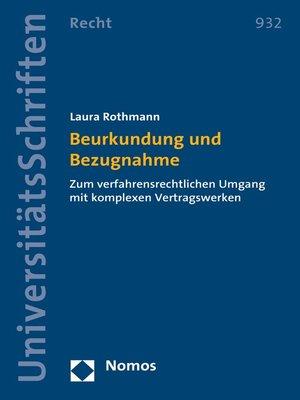 cover image of Beurkundung und Bezugnahme