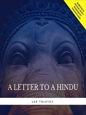 cover image of A Letter to a Hindu