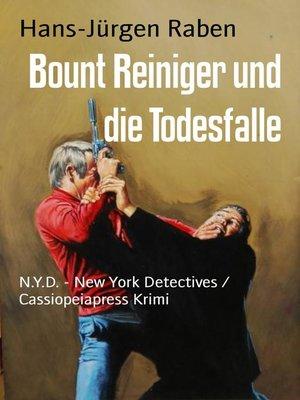cover image of Bount Reiniger und die Todesfalle