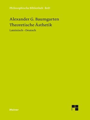 cover image of Theoretische Ästhetik