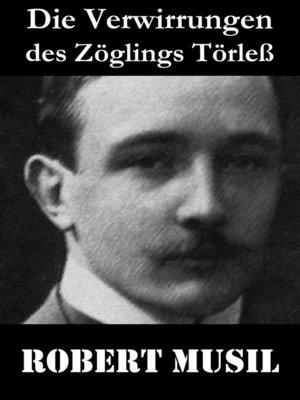 cover image of Die Verwirrungen des Zöglings Törleß