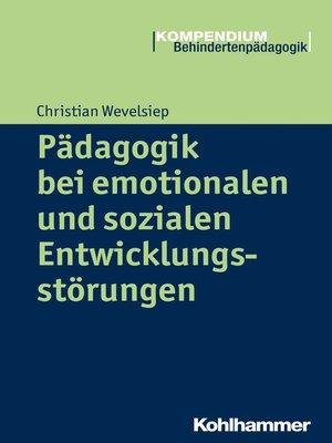 cover image of Pädagogik bei emotionalen und sozialen Entwicklungsstörungen