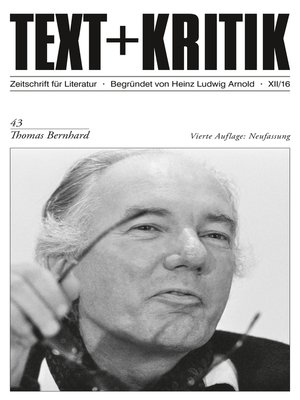 cover image of TEXT+KRITIK 43--Thomas Bernhard