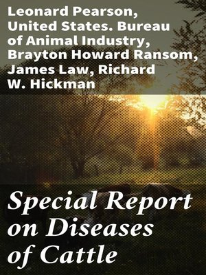 cover image of Special Report on Diseases of Cattle