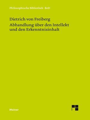 cover image of Abhandlung über den Intellekt und den Erkenntnisinhalt