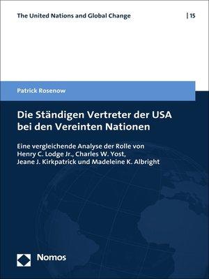 cover image of Die Ständigen Vertreter der USA bei den Vereinten Nationen