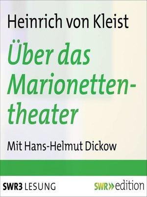 cover image of Über das Marionettentheater und andere Prosa