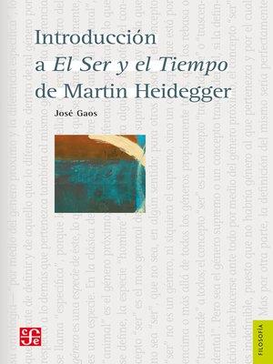 cover image of Introducción a El Ser y el Tiempo de Martin Heidegger