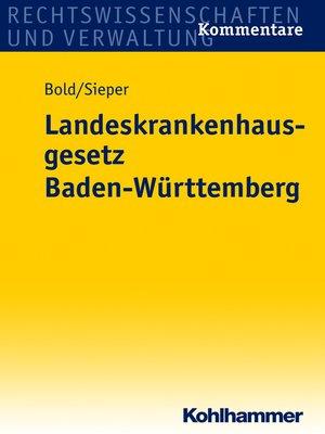 cover image of Landeskrankenhausgesetz Baden-Württemberg