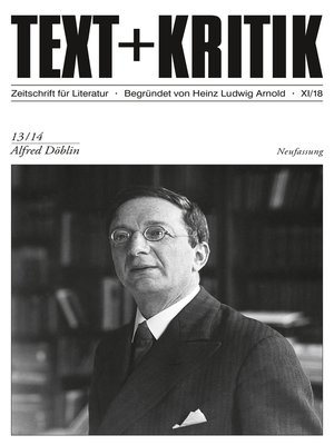 cover image of TEXT + KRITIK 13/14--Alfred Döblin