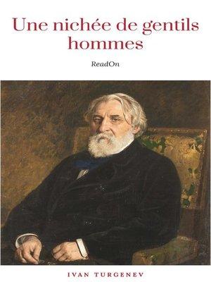 cover image of Une nichée de gentilshommes