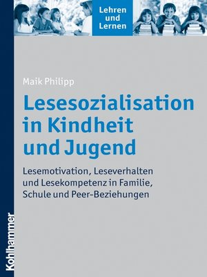 cover image of Lesesozialisation in Kindheit und Jugend