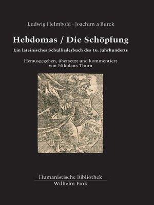 cover image of Hebdomas / Die Schöpfung